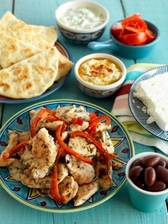 Oregano & Lemon Chicken with Pita Bread