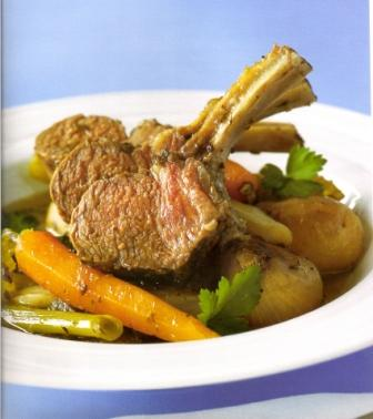 Savoury Lamb Racks in a Vegetable Broth