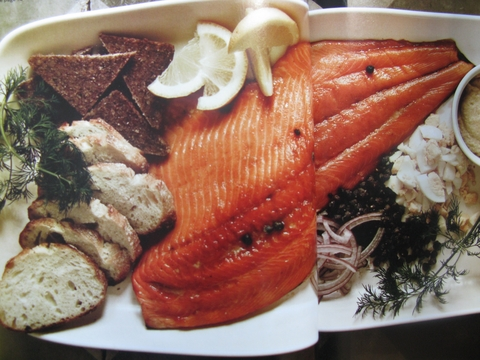 Christmas Hot Smoked Salmon Platter