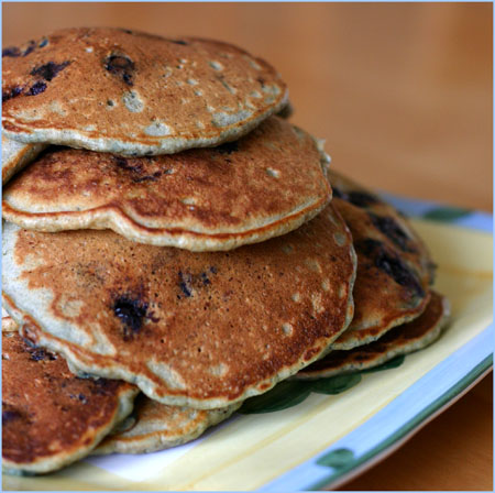 Blueberry Buttermilk Choc Chip Pancakes
